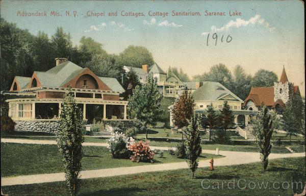 Chapel and Cottages, Cottage Sanitarium Saranac Lake New York