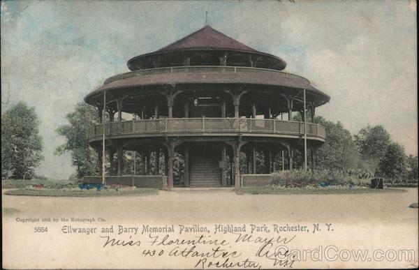 Ellwanger and Barry Memorial Pavilion, Highland Park Rochester New York