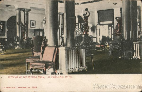 Interior of the Sitting Room, At Tampa Bay Hotel Florida