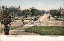 Summit Avenue and Park Postcard