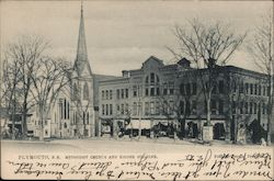 Methodist Church and Kidder Building Postcard