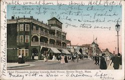 Hotel Pleasanton, looking towards Bath House