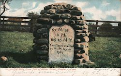 Old Mile Stone Foot of Main Street