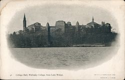 College Hall, Wellesley COllege, From lake Waban