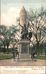 Crispus Attucks Monument Commemorating Massacre of 1770