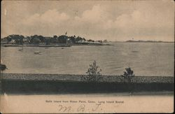 Belle Island from Roton Point, Conn, Long Island Sound