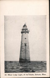 Minot Ledge Light, off the Glades Postcard