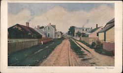 Broadway on Nantucket island Postcard