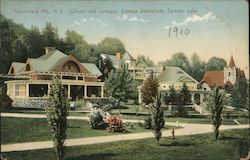 Chapel and Cottages, Cottage Sanitarium Postcard