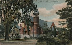 St. John's Catholic Church and Rectory Postcard