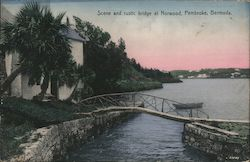 Scene and Rustic Bridge at Norwood, Pembroke, Bermuda