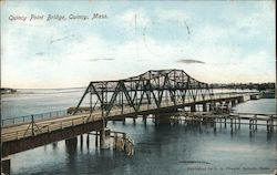 Quincy Point Bridge Postcard