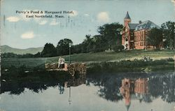 Perry's Pond & Marquard Hotel Postcard