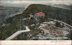 Summit of Mt. Tom Showing Upper Station Postcard
