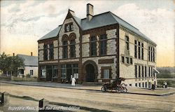 Town Hall and Post Office Postcard