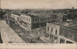 Looking West from Armour Packing Company Postcard