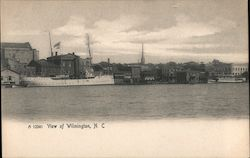 View of Wilmington Across the Cape Fear River Postcard