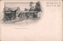 "Greetings from the ""Land of the Sky"", Old Mill Postcard"