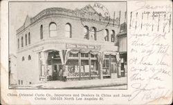 China Oriental Curio Co, Importers and Dealers in China and Japan Curios. 526-528 North Los Angeles St.