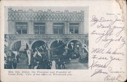 Mrs. Geo. Sibley, the Promoter and Founder of Ocean Park, View of her Office on Windward Ave. Venice, CA Postcard