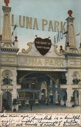 Entrance to Luna Park, The Heart of Coney Island