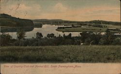 View of Country Club and Normal Hill Postcard