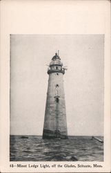 Monot Ledge Light, off the Glades Postcard