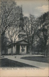 "Center Church on the ""Old Green"" Postcard"