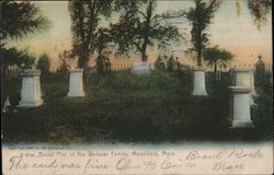 Burial Plot of the Webster Family Postcard
