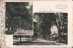 Washington Street and Broadway Postcard