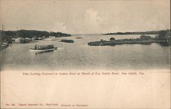 View Looking Eastward to Indian River at Mouth of Eau Gallie River Postcard