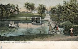Entrance to Lakeside Park Postcard