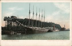 N & W Coal Piers Postcard