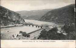 Harper's Ferry from Maryland Heights Postcard
