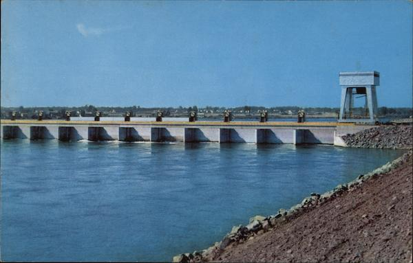 Billion Dollar St. Lawrence River Seaway and Power Project Massena New York