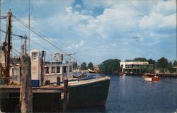 Boats Docked in Freeport Canal