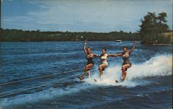 Water Skiing at Parklands Resort Postcard