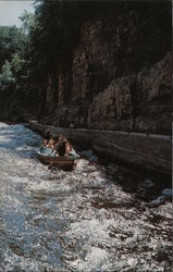 Shooting the Rapids In Famous Ausable Chasm Postcard