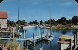 Waterfront Scene on Long Island Postcard