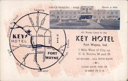 All Roads Lead to the Key Hotel 1 Mile West of City on U.S. Routes 30 and 33