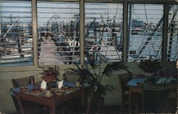View of Harbor from Dining Room of the A & B Lobster House