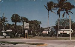 "Tropical Acres Restaurant ""Steaks"" That's Our Business U.S. 1 Between Boynton and Delray Beach Postcard"