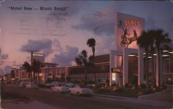 """Motel Row-Miami Beach"" Postcard"