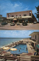 Magic Isle Motel Directly On the Ocean 16875 Collins Avenue Postcard