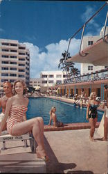 Shore Club Hotel - Private Beach, Pool and Cabana Colony Postcard