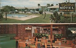 The Lantern Motel & Restaurant Postcard