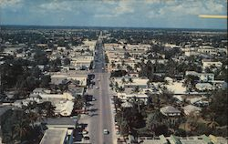 Looking West on Atlantic Avenue Postcard