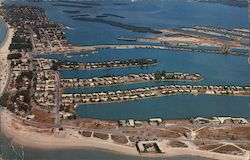 Air View of Clearwater Beach looking toward Clearwater Causeway from the south end of the Beach.