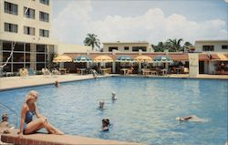Large Modern Pool at Hotel and Villas Postcard