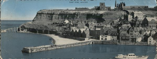 View of Town and Harbor, East Side Whitby England